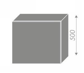 PLATINUM, skříňka horní na digestoř W8 60, korpus: grey, barva: deep red