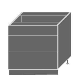 SILVER+, skříňka dolní D3m 80, korpus: lava, barva: black pine