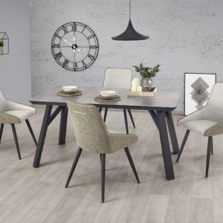 Jídelní stůl HALIFAX 160x90 cm, jasan/beton