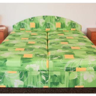 Čalouněná postel ÁJA 160x195 cm, zelená látka