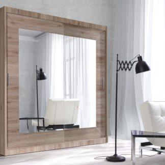 ALFA šatní skříň se zrcadlem 180 TYP 17 , dub san remo