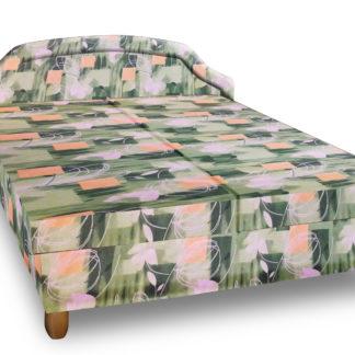 Čalouněná postel KARINA 180x200 cm, zelená látka