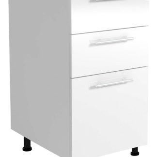 Dolní skříňka s šuplíky VENTO D3S-40/82, dvířka: sv.šedý lesk