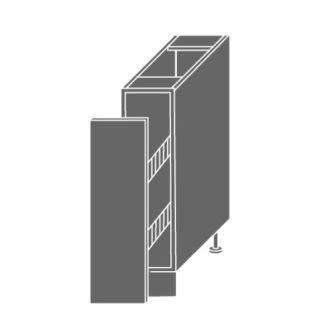 PLATINUM, skříňka dolní D15 + cargo, pravá, korpus: bílý, barva: black stripes