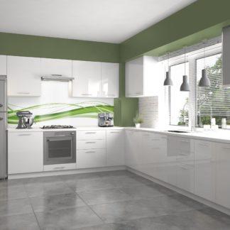 Rohová kuchyně VENTO 280x245 cm, dvířka: bílý lesk