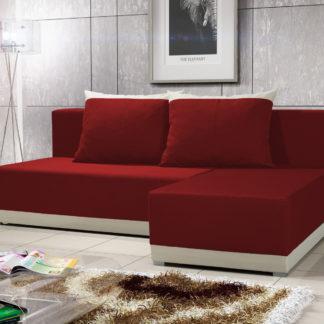 Rohová sedačka BRAGA 5, červená látka/krémová látka