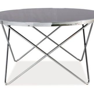 Konferenční stolek Fabia B, kov/sklo