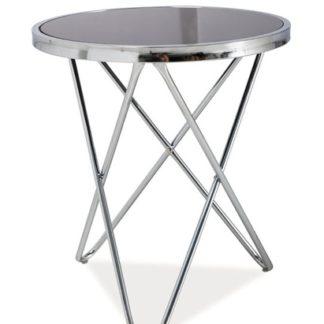Konferenční stolek Fabia C, kov/sklo