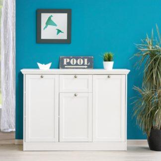 Prádelník 3 dveře + zásuvka LANDWOOD 15, bílý