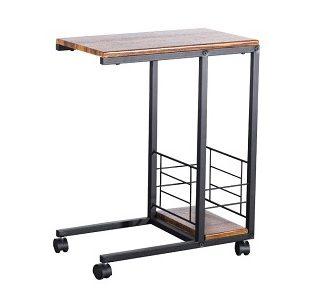 CARMEL odkládací stolek, ořech/černá