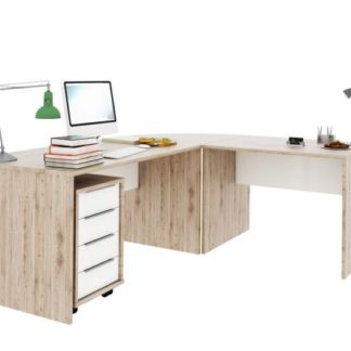 RIOMA set psacích stolů, dub san remo/bílá