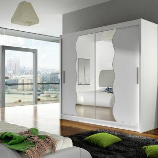 Šatní skříň BEGA X, bílý mat/zrcadlo