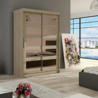 Šatní skříň MIAMII IV, sonoma/zrcadlo