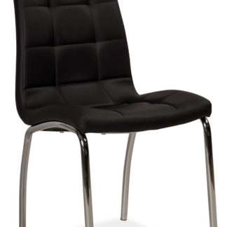 Jídelní čalouněná židle H-104, černá