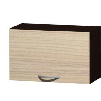 NELA horní skříňka H 60 N, korpus dub tmavý/dvířka jasan coimbra