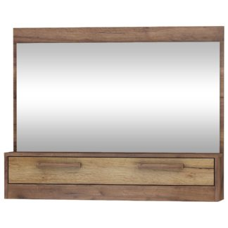Zrcadlo 1D MAXIMUS 14, craft tobaco/craft zlatý