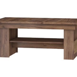 Rozkládací konferenční stolek R MAXIMUS 17, craft tobaco/craft zlatý