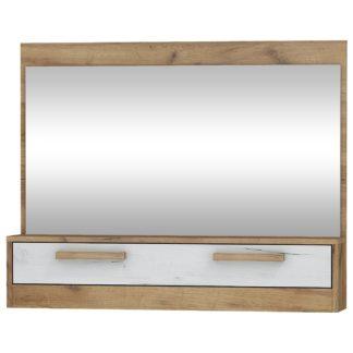 Zrcadlo 1D MAXIMUS 14, craft zlatý/craft bílý