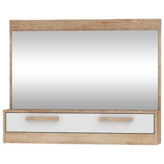 Zrcadlo 1D MAXIMUS 14, dub sonoma/bílý lesk