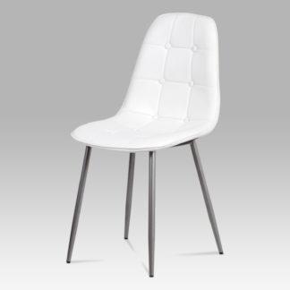 Jídelní židle CT-393 WT, bílá/antracit