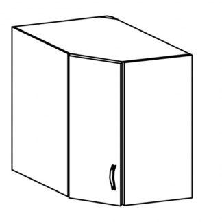 LUNA, skříňka horní rohová G60N levá, dub sonoma/ecru
