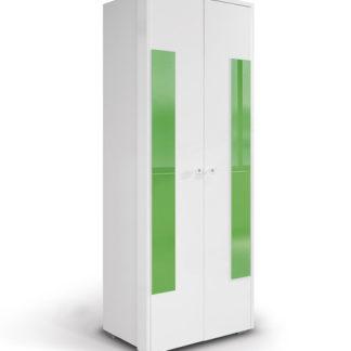 HAPPY, skříň 220 02V, bílá/zelená