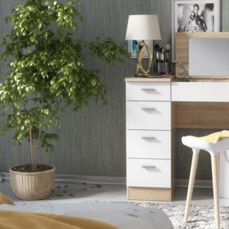 Pracovní/toaletní stolek CHARM, dub sonoma/bílá