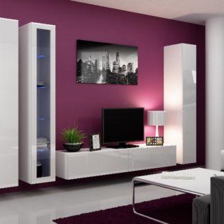 Obývací stěna VIGO 2 A, bílá/bílý lesk