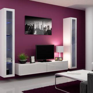 Obývací stěna VIGO 5, bílá/bílý lesk