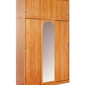 Šatní skříň KAMMA se zrcadly, barva: