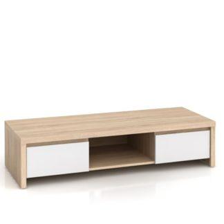 KASPIAN, televizní stolek RTV2S, sonoma/bílý lesk