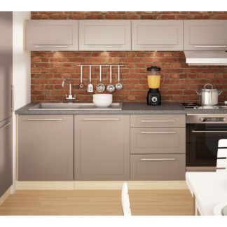 Kuchyně QUANTUM, vzorová sestava, beige mat/jersey