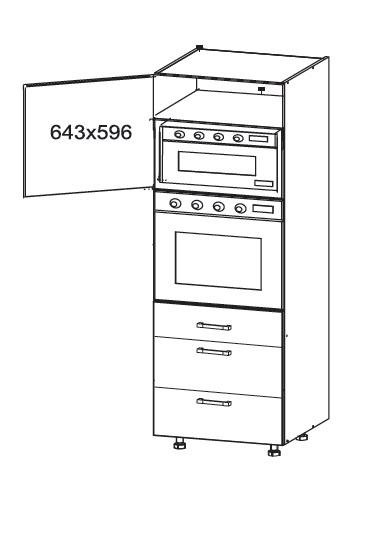 FIORE vysoká skříň DPS60/207 SMARTBOX, korpus ořech guarneri, dvířka bílá supermat
