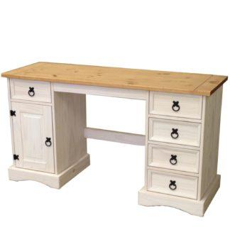 Psací stůl CORONA bílý vosk