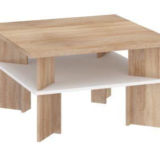 Konferenční stolek VECTRA 1, dub sonoma/bílá