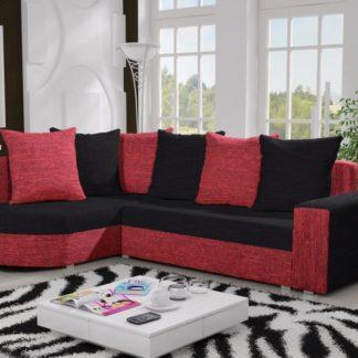 Rohová sedačka LIZBONA 9 levá, černá/červená