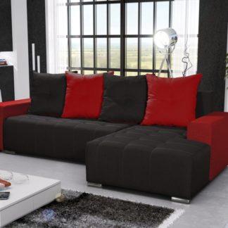 Rohová sedačka TELO 3 pravá, černá/červená