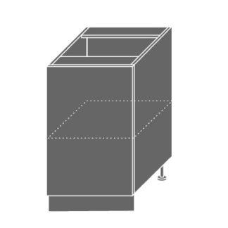 PLATINUM, skříňka dolní D1d 50, korpus: jersey, barva: black