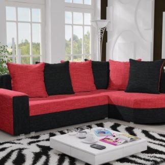 Rohová sedačka LIZBONA 10 pravá, červená/černá