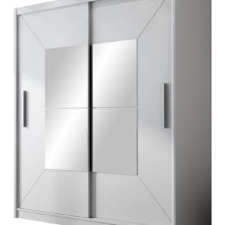BOSTON šatní skříň s posuvnými dveřmi, bílá