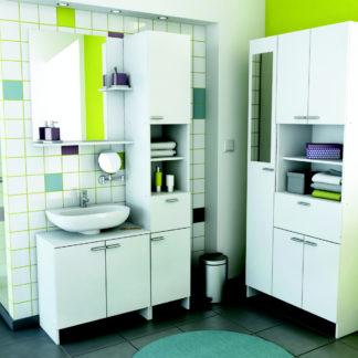 CORALIE2 2, koupelnová sestava BEZ UMYVADLA, bílá 2, koupelnová sestava BEZ UMYVADLA, bílá