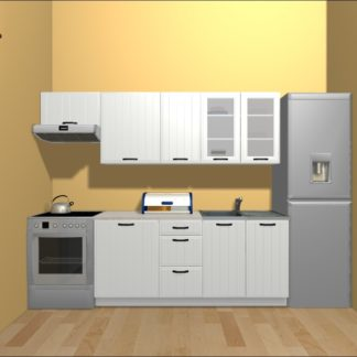 Kuchyně DOMIN 180/240 cm, bílá canadian