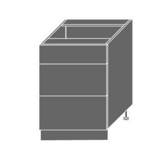 PLATINUM, skříňka dolní D3m 60, korpus: lava, barva: vanilla