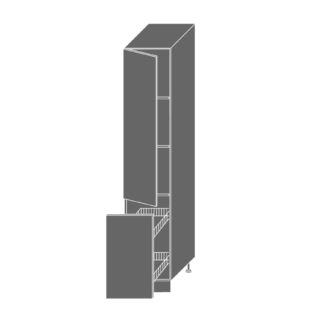PLATINUM, skříňka potravinová 2D14k 40 + cargo, korpus: bílý, barva: camel