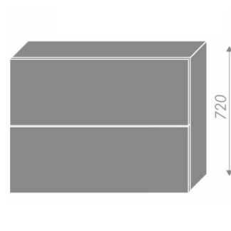 PLATINUM, skříňka horní W8B 90 AV, korpus: grey, barva: rose red