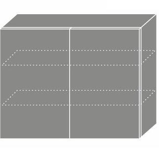PLATINUM, skříňka horní W3 90, korpus: lava, barva: black stripes