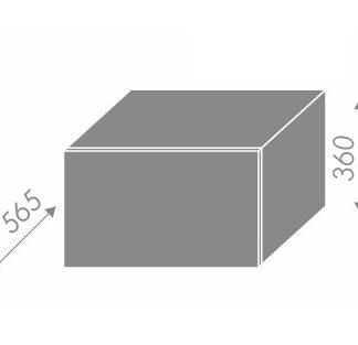 PLATINUM, skříňka horní W6B 60, korpus: bílý, barva: black