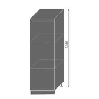 PLATINUM, skříňka dolní  D5D/60/154, korpus: grey, barva: deep red