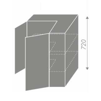 SILVER+, skříňka horní rohová W12 60, korpus: bílý, barva: black pine