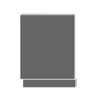 SILVER+, dvířka pro vestavby ZM-60, sokl jersey, barva: sonoma